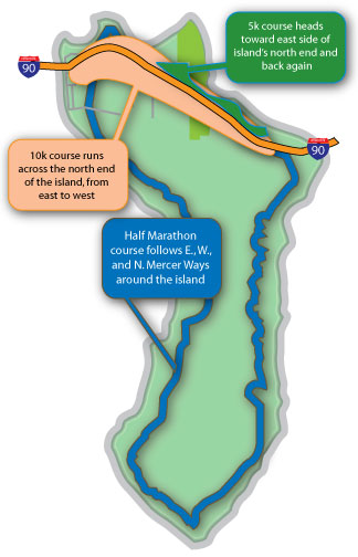 Maps & Parking – Mercer Island Half Marathon